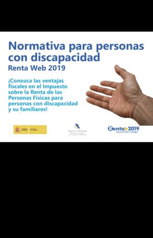 Ver Normativa para personas con discapacidad. Renta Web 2019