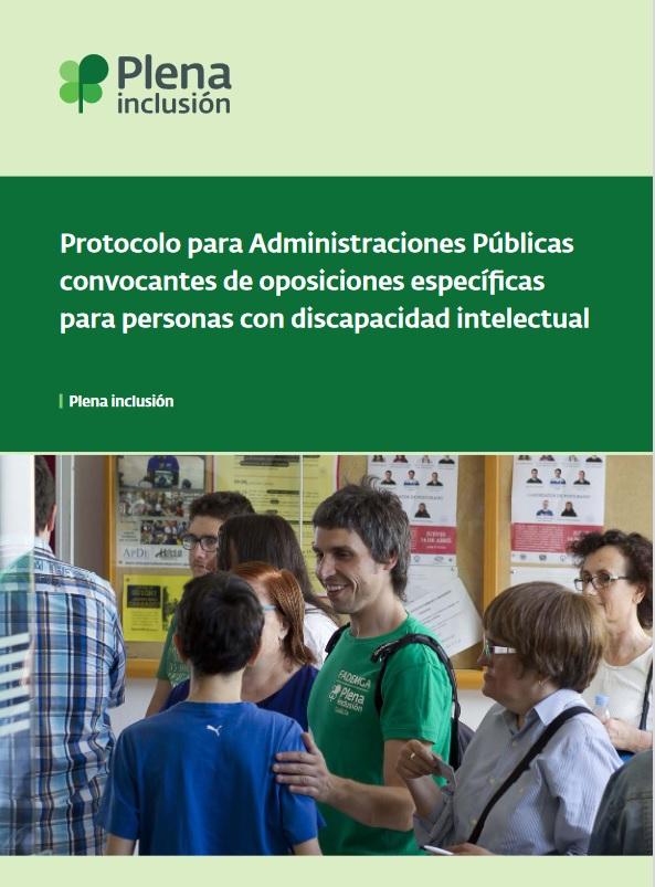 portada Protocolo para Administraciones Públicas convocantes de oposiciones específicas para personas con discapacidad intelectual