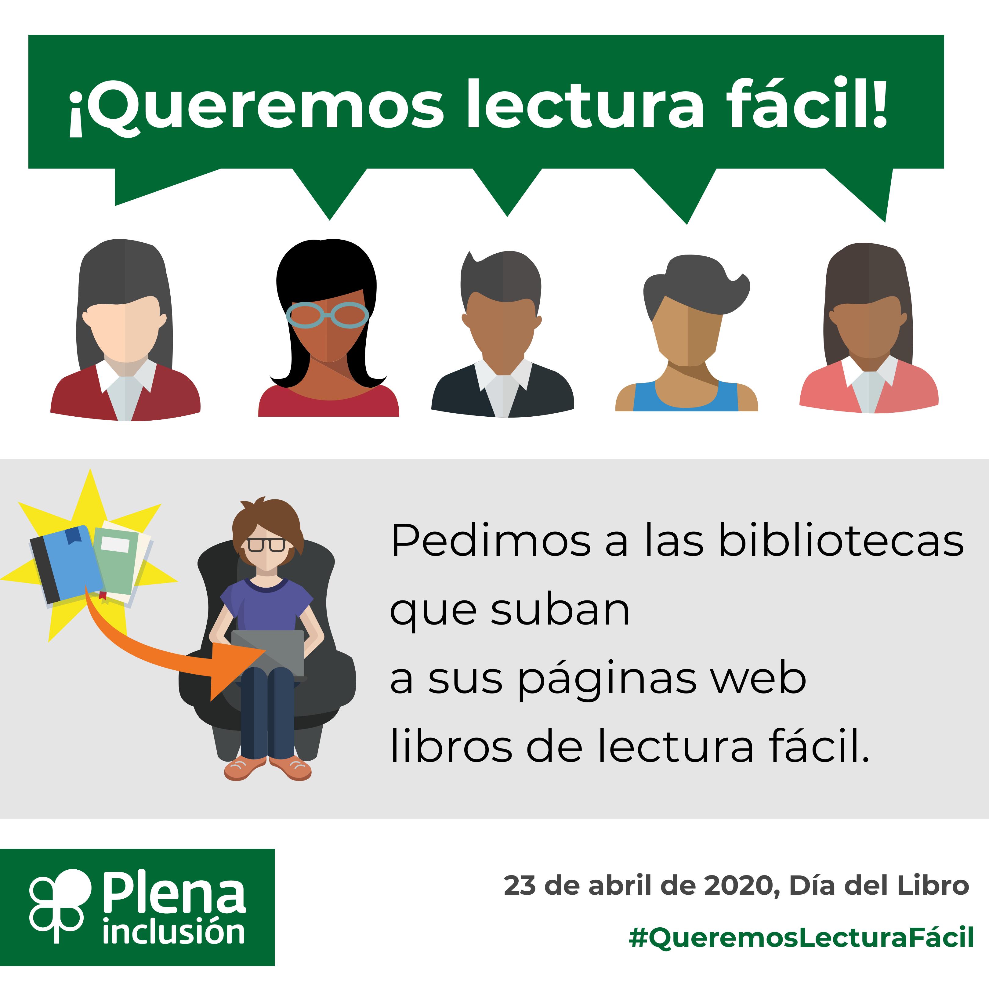 Ir a : Plena inclusión lanza la campaña «Queremos lectura fácil» para celebrar el Día del Libro