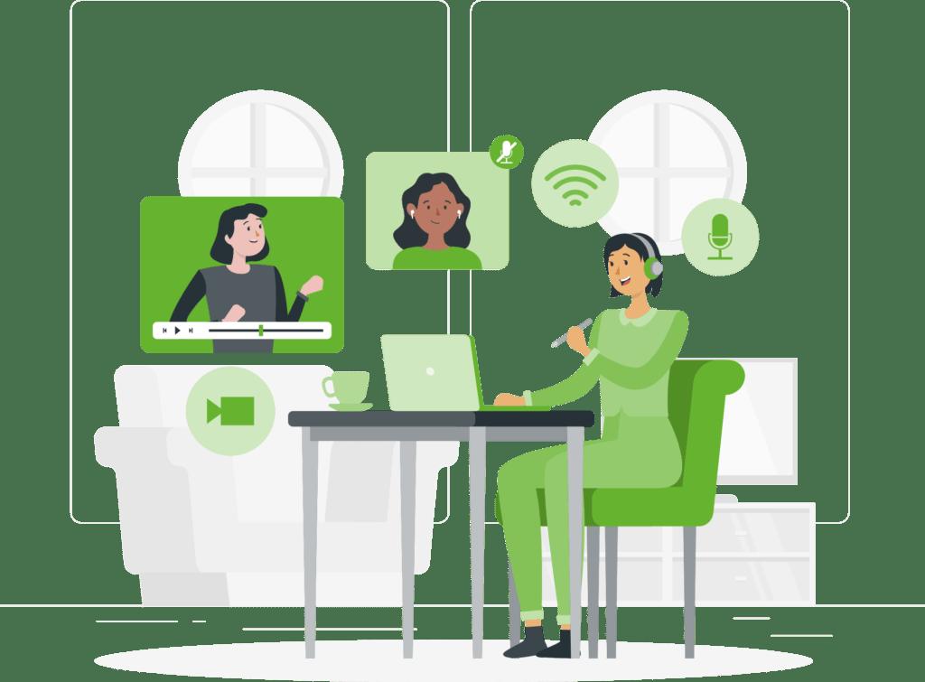 ilustración aprendizaje conocimiento online formación curso