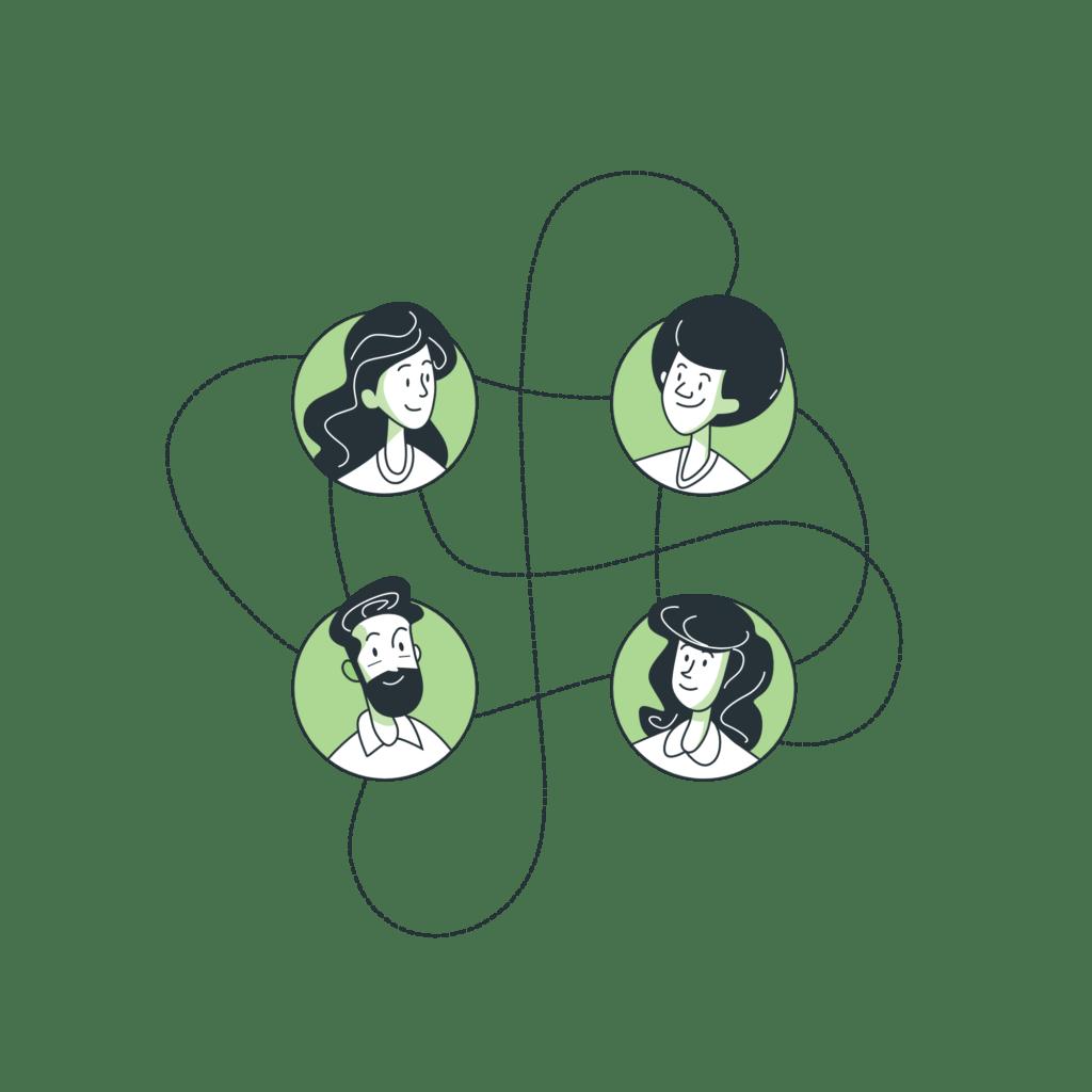 ilustración red medios sociales