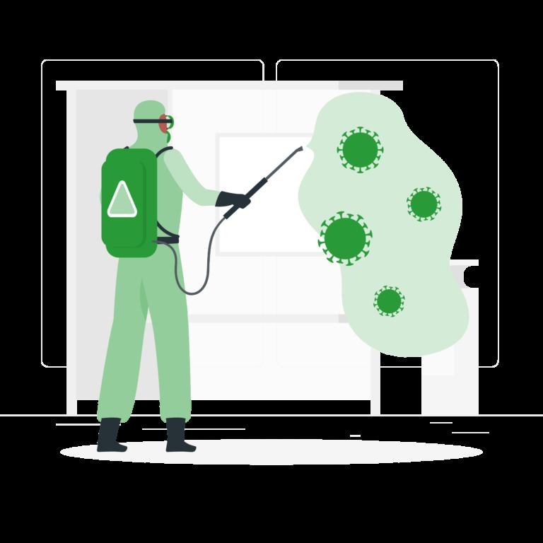 ilustración coronavirus equipos protección covid