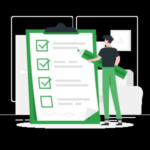 ilustración formulario cuestionario rellenar encuesta