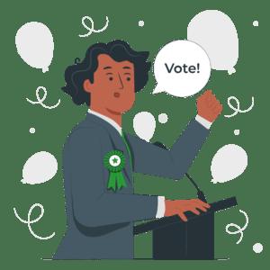 ilustración política votar elecciones voto