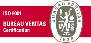 Sello de calidad ISO 9001 certificado por el Burearu Veritas