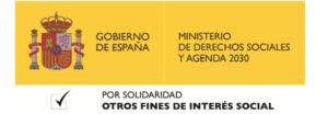 Ministerio de derechos sociales - Casilla otros fines de interés social