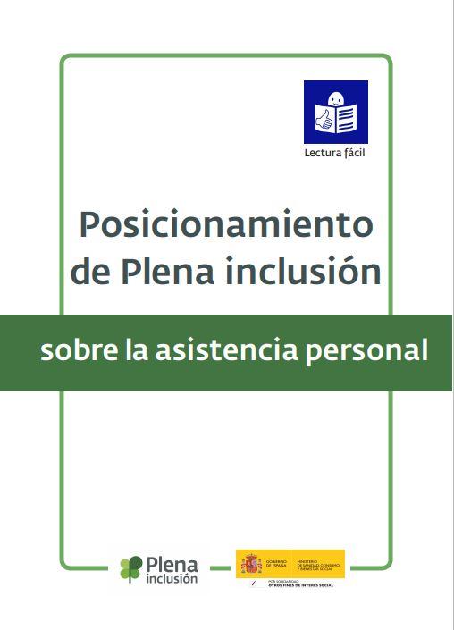Portada Posicionamiento sobre asistencia personal