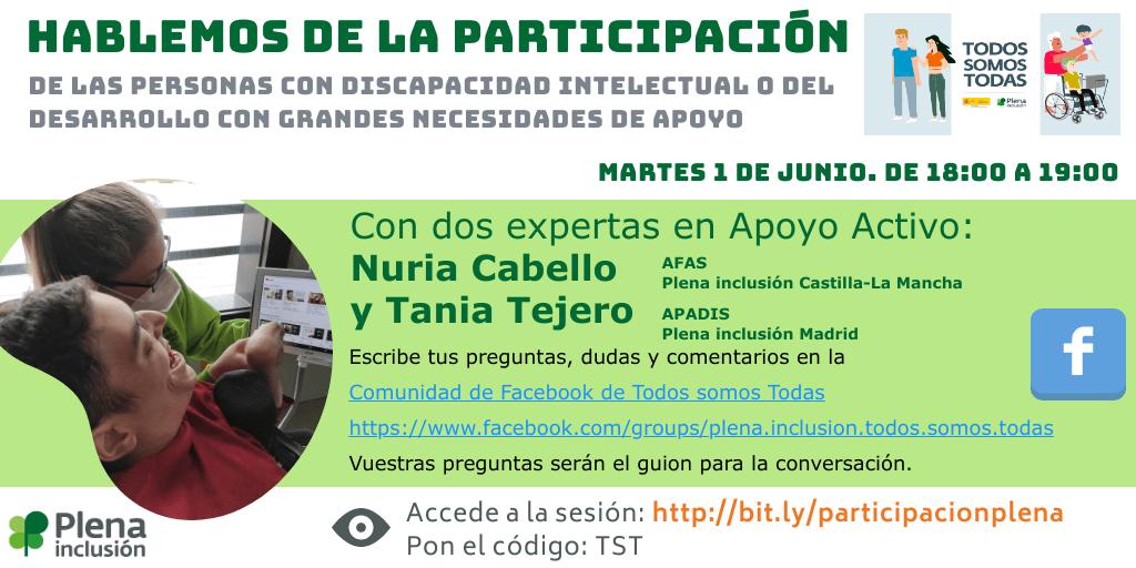 Ir al evento: Conversación inversa: Hablemos de la participación de las personas con discapacidad intelectual o del desarrollo con grandes necesidades de apoyo