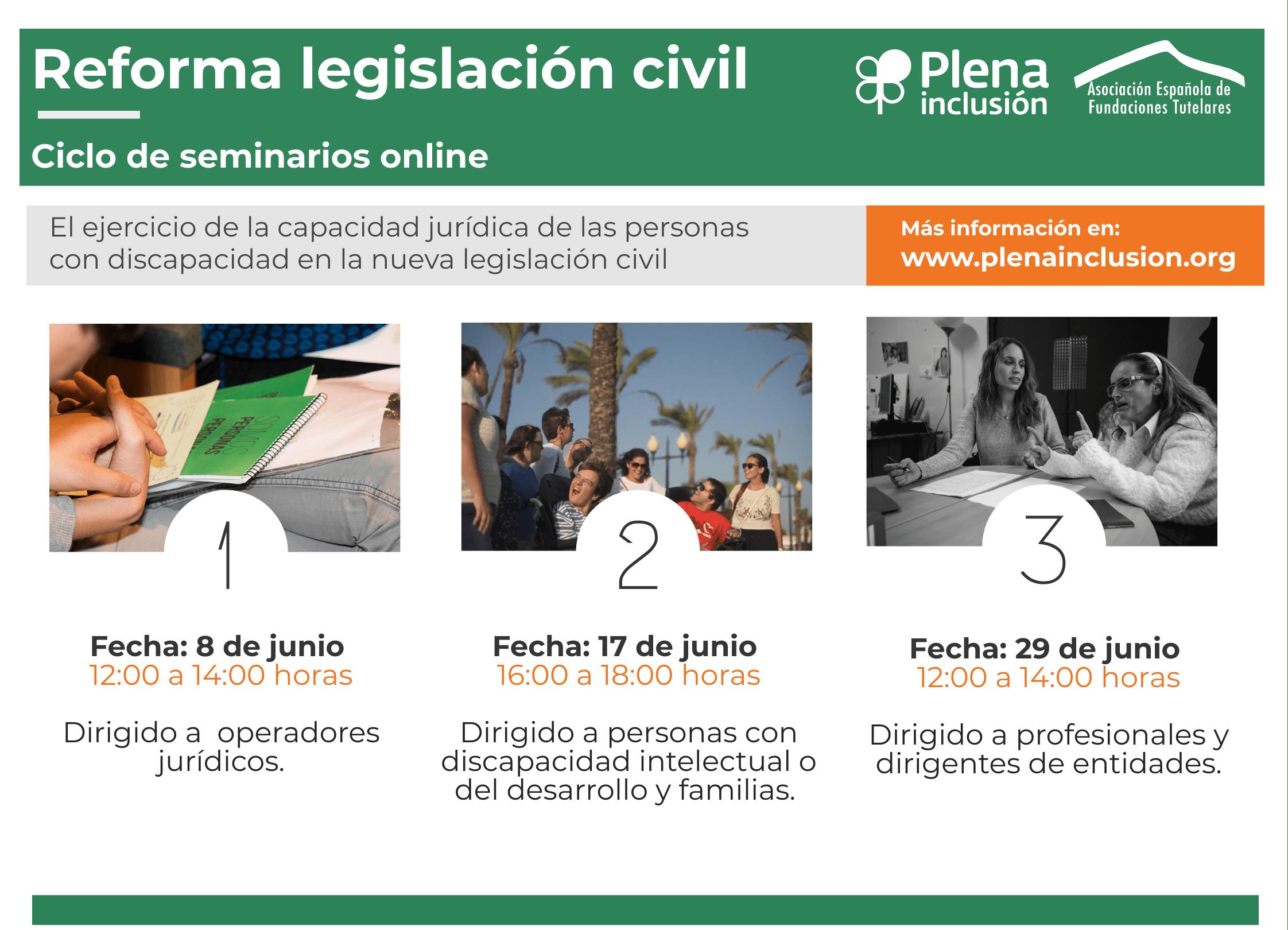 Ir al evento: Ciclo de seminarios online sobre la reforma de la legislación civil (sesión 3 para profesionales de organizaciones)
