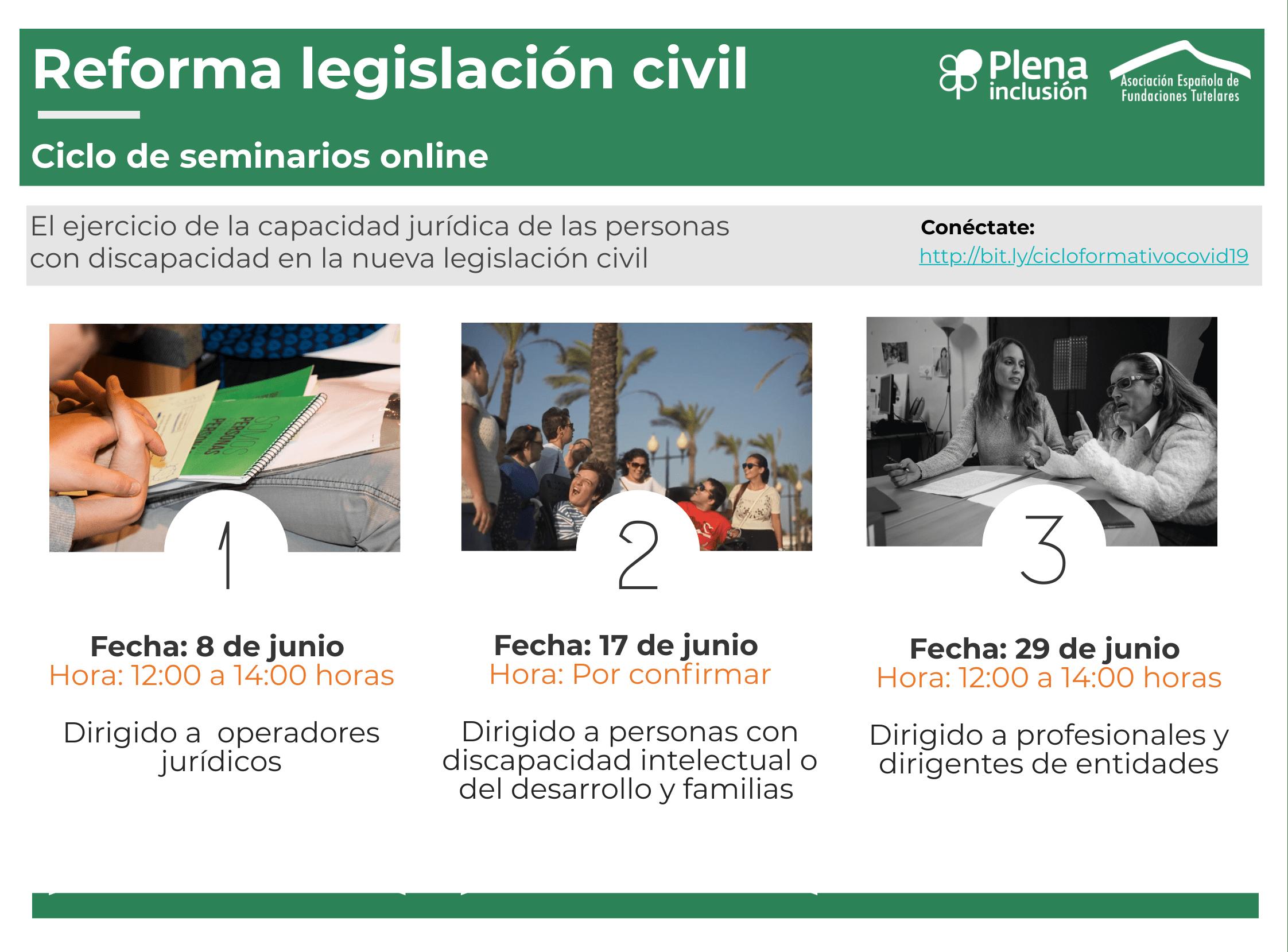 Ciclo de seminarios legislación civil