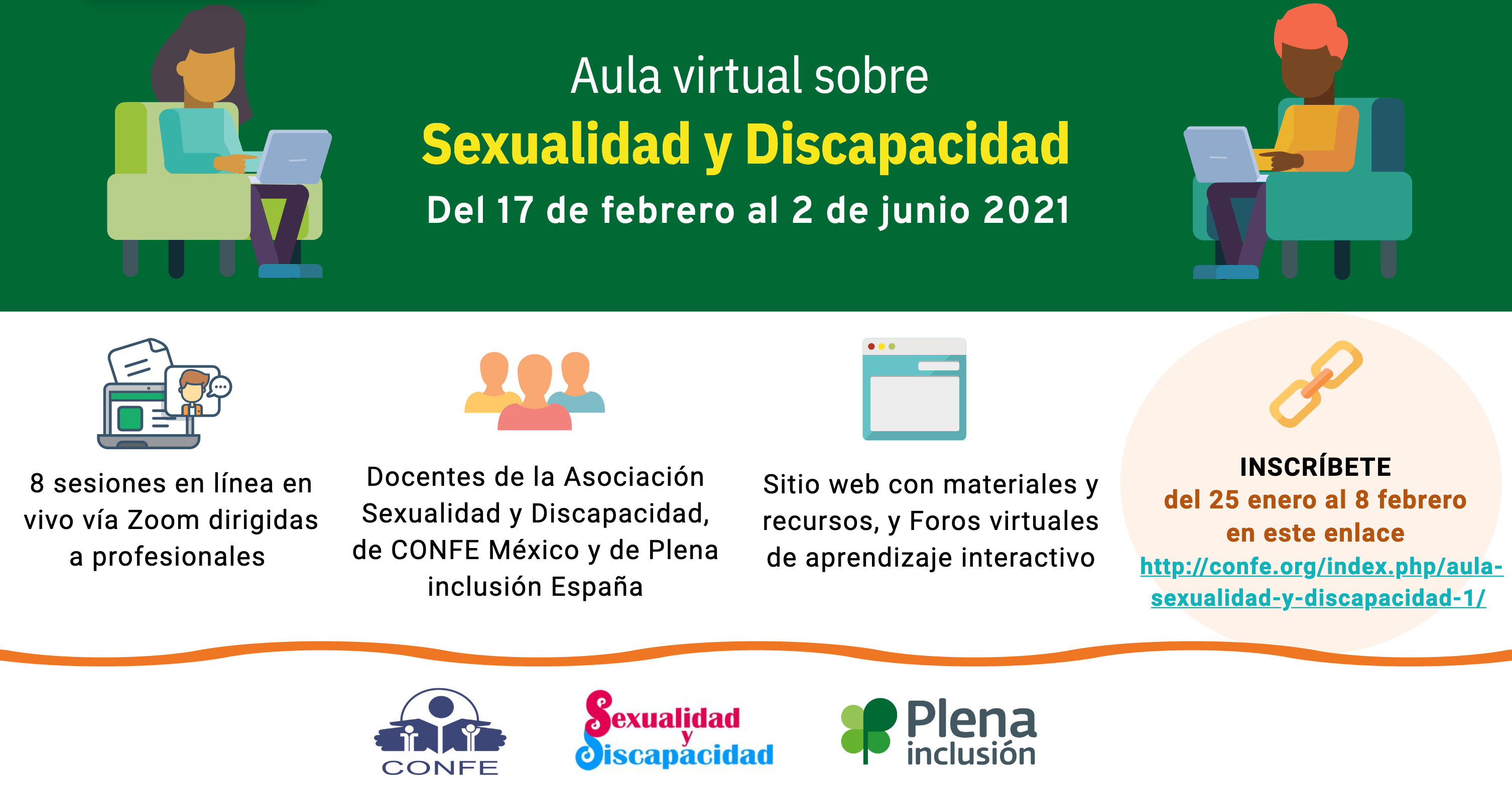 Ir a : Aula Virtual de formación sobre Sexualidad y Discapacidad destinada a profesionales de España y América Latina