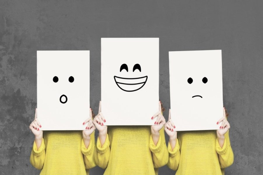 foto conducta feliz triste