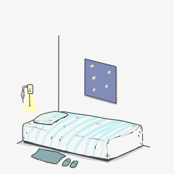ilustración habitación residencia