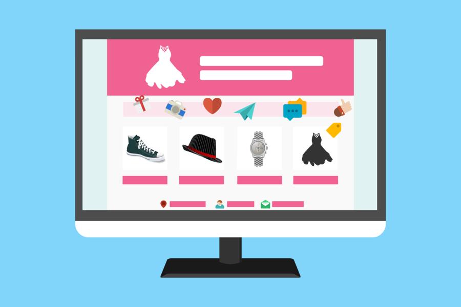 ilustración tienda online