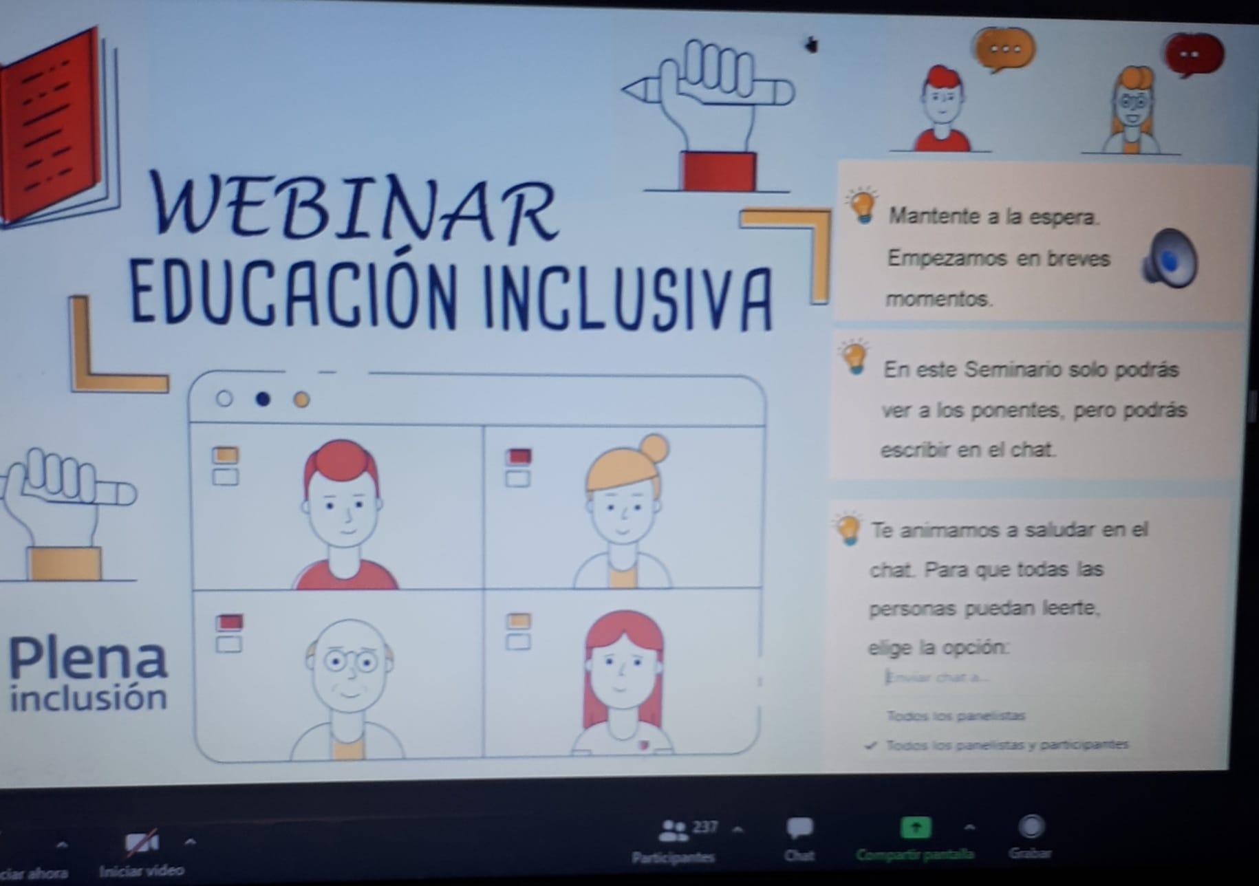 Ir a : Finaliza el ciclo de formación online sobre educación inclusiva promovido por Plena Castilla-La Mancha y la Junta de CLM