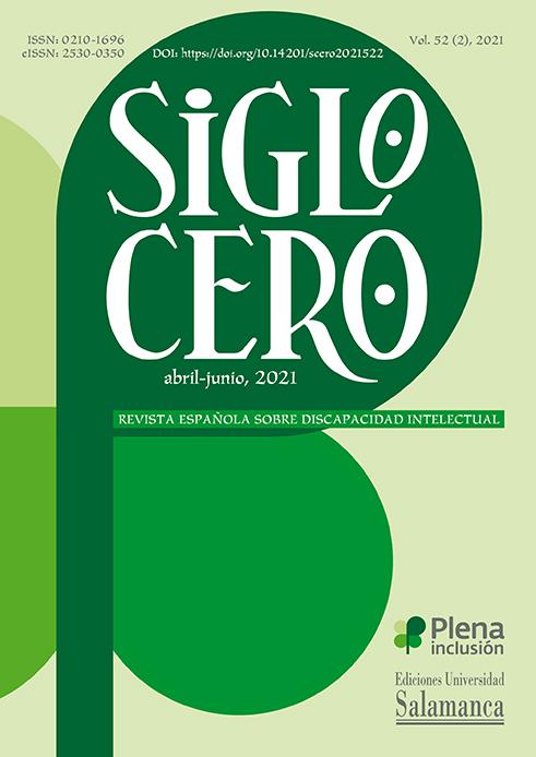 portada Siglo Cero volumen 52 número 2