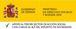 Logo IRPF Ministerio Derechos Sociales y Agenda 2030