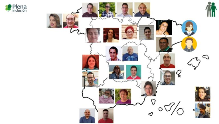 mapa de líderes de Asistencia Personal de Plena inclusión