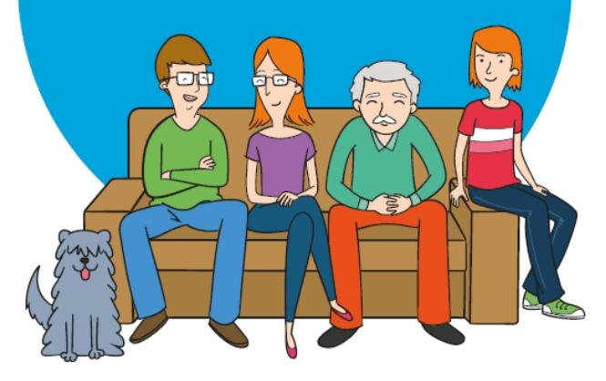 ilustración calidad de vida familiar familia sofá mayores 18
