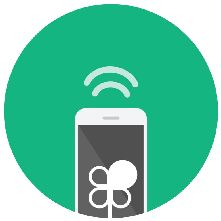 ilustración móvil ondas wifi teléfono logo plena inclusión