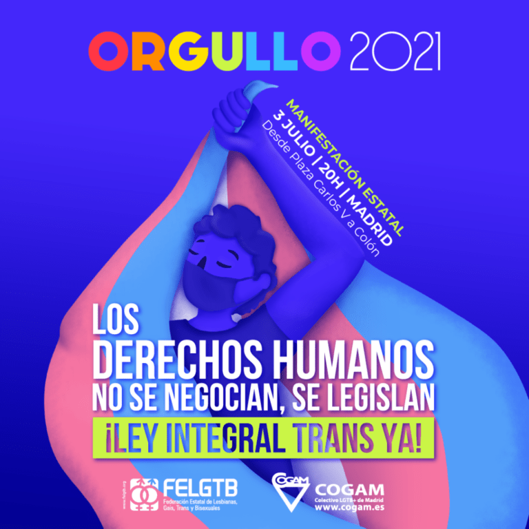 cartel manifestación orgullo 2021