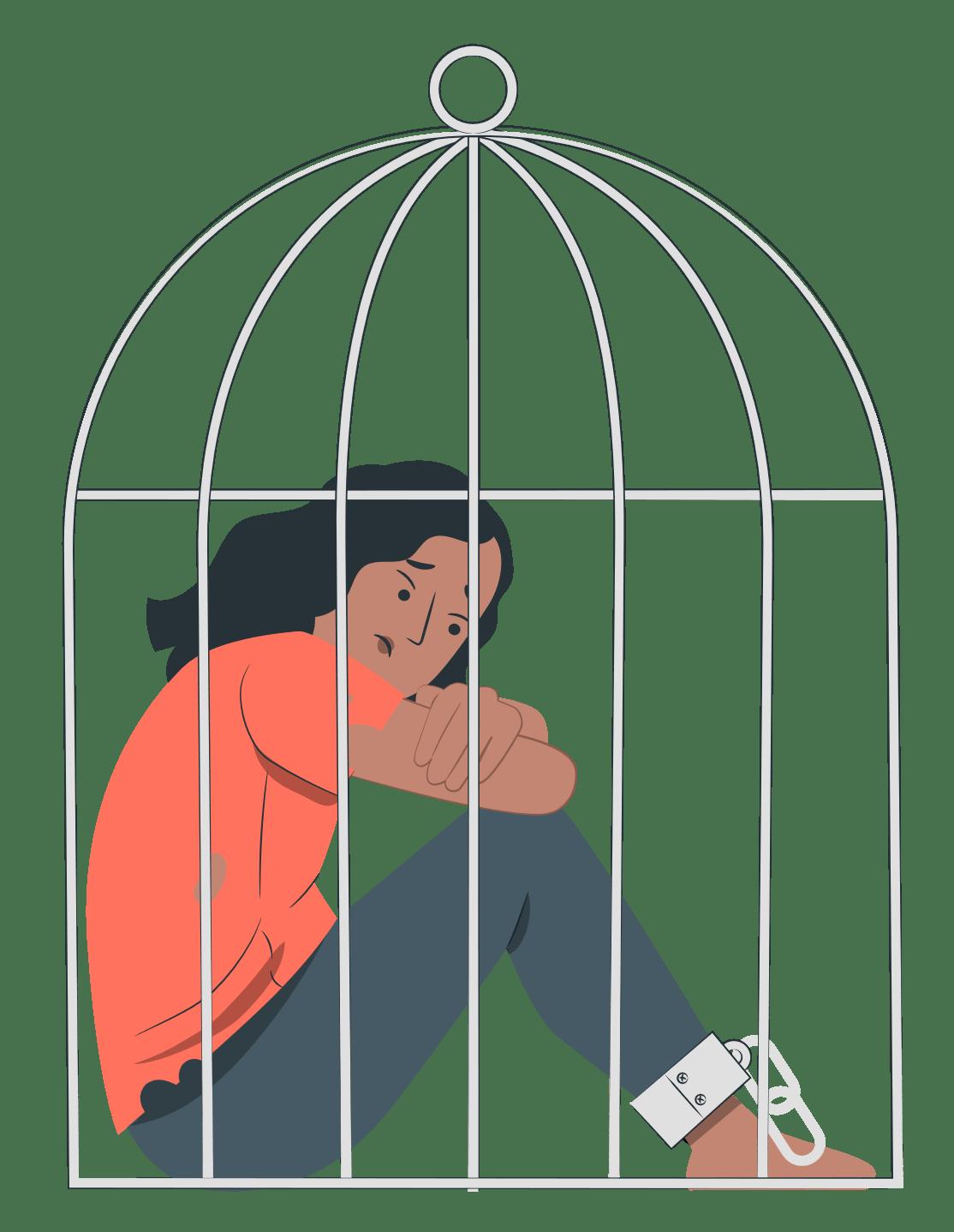 Mujer encerrada