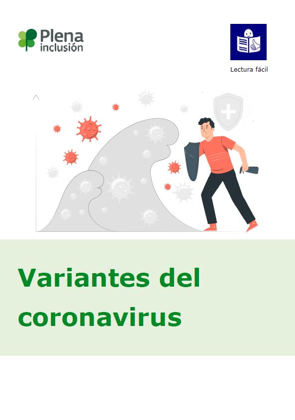 portada Variantes del coronavirus lectura fácil plena inclusión