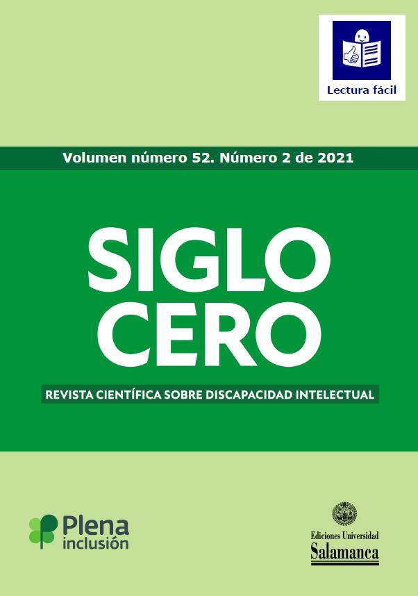 portada Siglo Cero volumen 52 número 2 lectura fácil