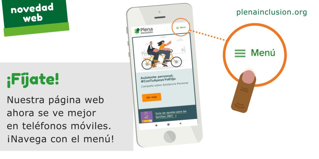 ¡Fíjate! Nuestra página web ahora se ve mejor en teléfonos móviles. ¡Navega con el menú!