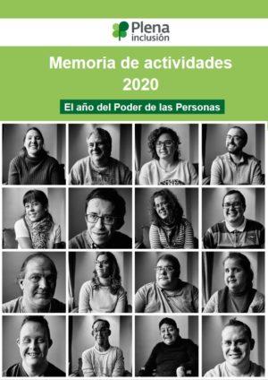 Ver Memoria de actividades de Plena inclusión 2020