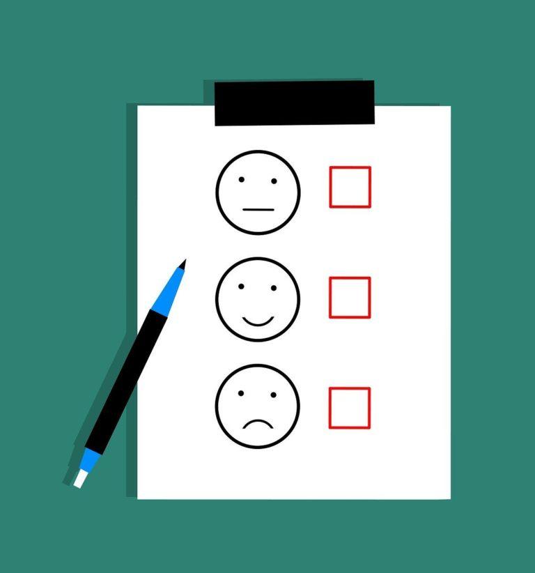 ilustración encuesta emoticonos emojis caras