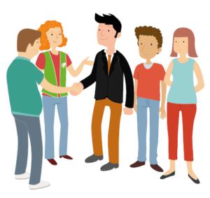ilustración grupo equipo trabajo empleo