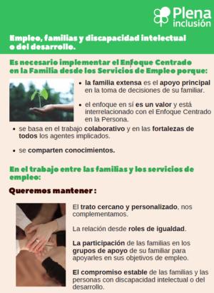 Ver Enfoque Centrado en la Familia en el empleo de las personas con discapacidad intelectual o del desarrollo