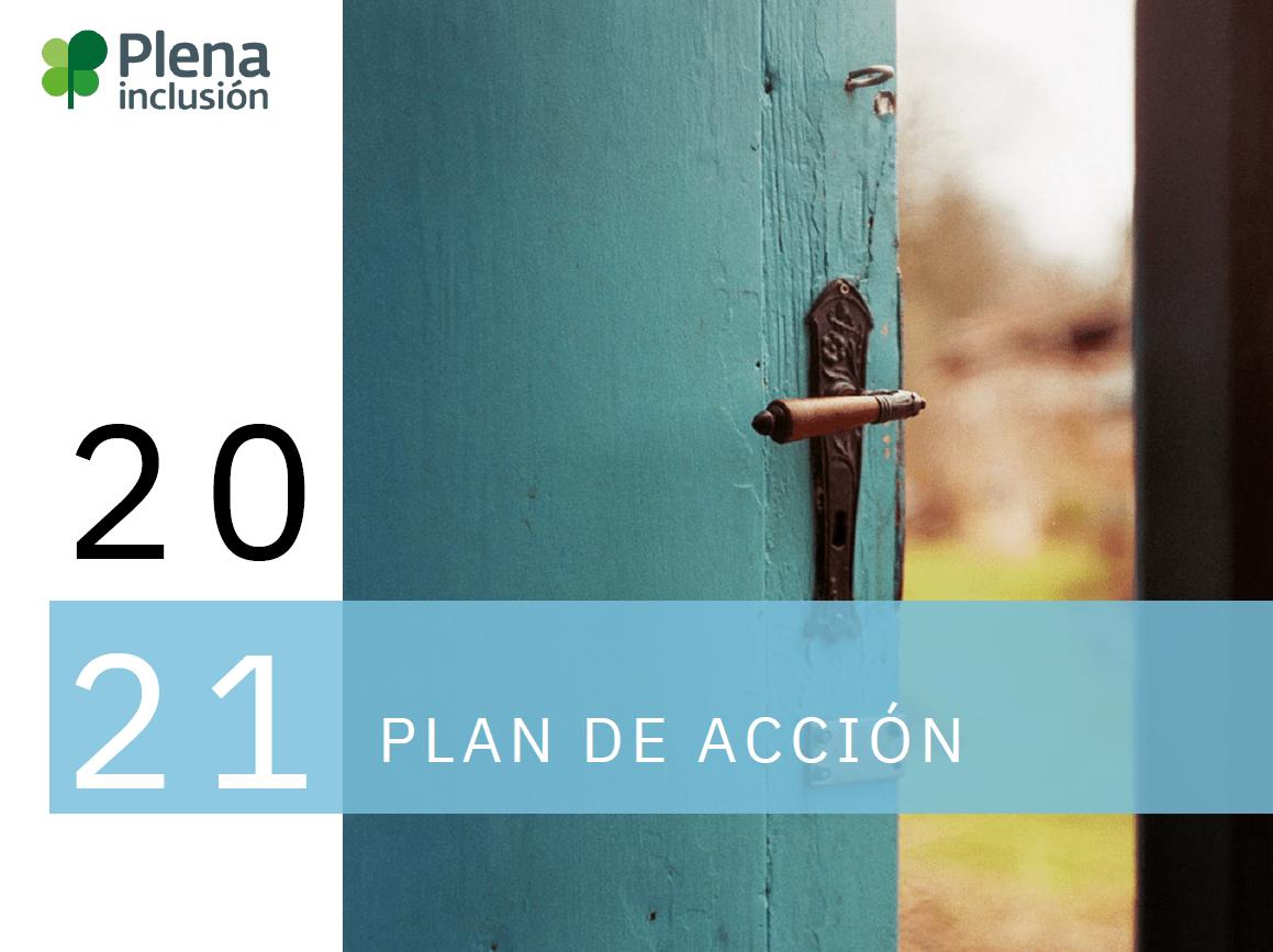 portada plan acción 2021 plena inclusión españa