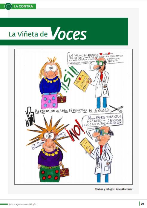 ejemplo de viñeta revista voces