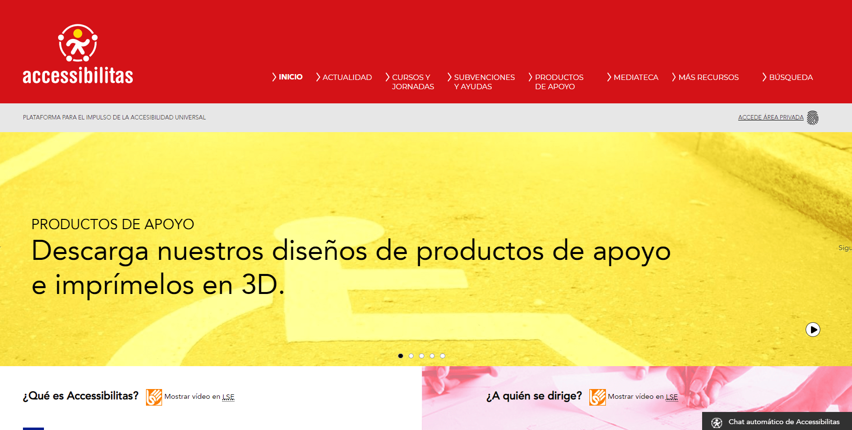 Ir a : Accessibilitas, una página web sobre accesibilidad con leyes, normas y formación