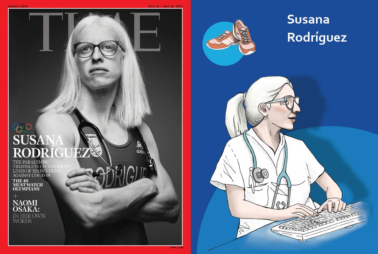 Ir a : La vida de Susana Rodríguez, deportista paralímpica, doctora y portada de Time, contada en lectura fácil
