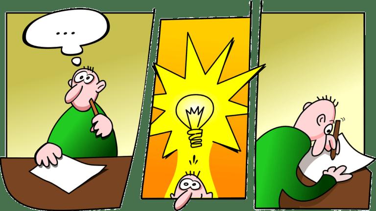 viñeta idea escribir dibujar cómic