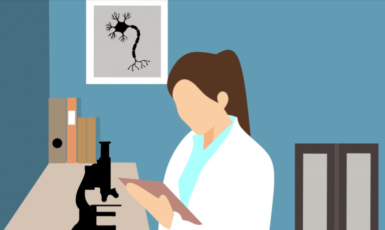 ilustración ciencia científica laboratorio