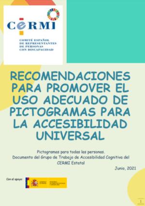 Ver Recomendaciones para promover el uso adecuado de pictogramas para la accesibilidad universal